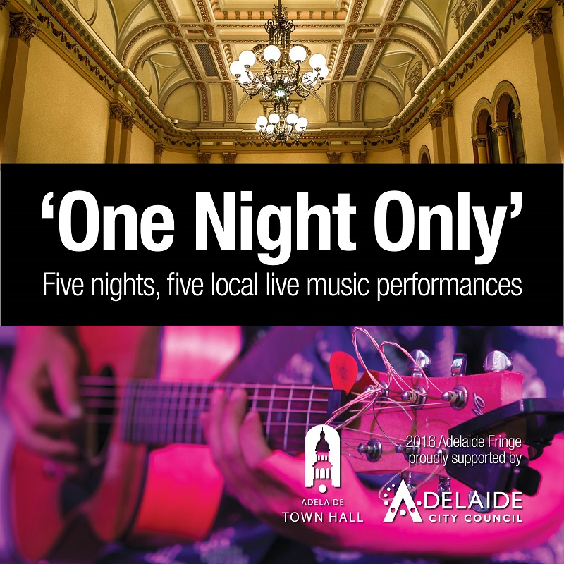 frusic feature: one night only at adelaide town hall