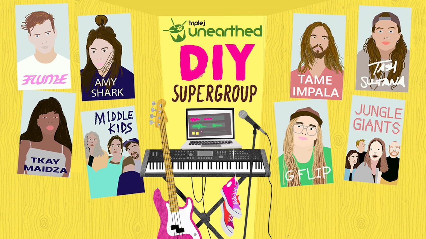 triple j Unearthed's DIY Supergroup: Your chance to make a song with Tame Impala, Flume, Amy Shark & more