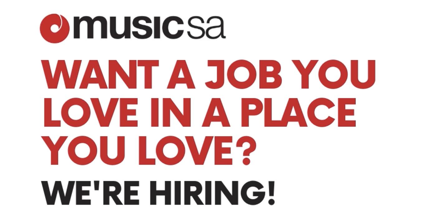 Music SA is hiring!